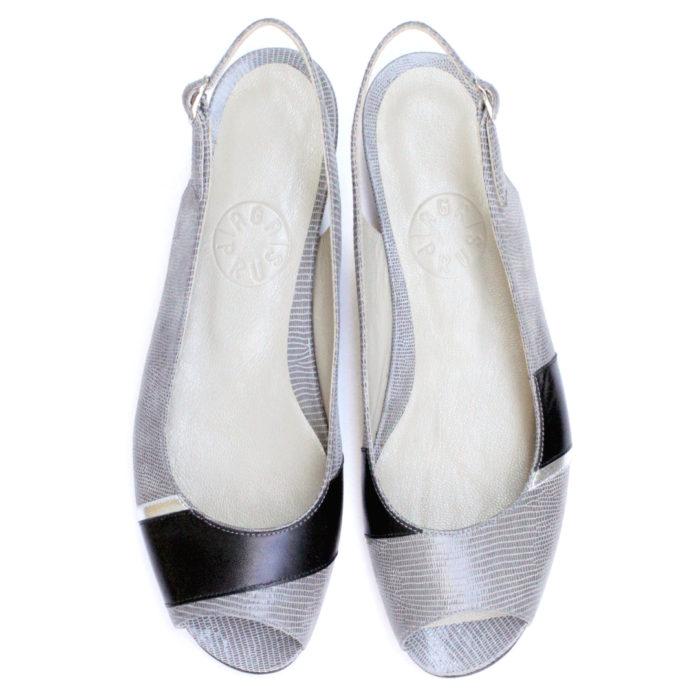 Sandałki Linea szaro-czarne