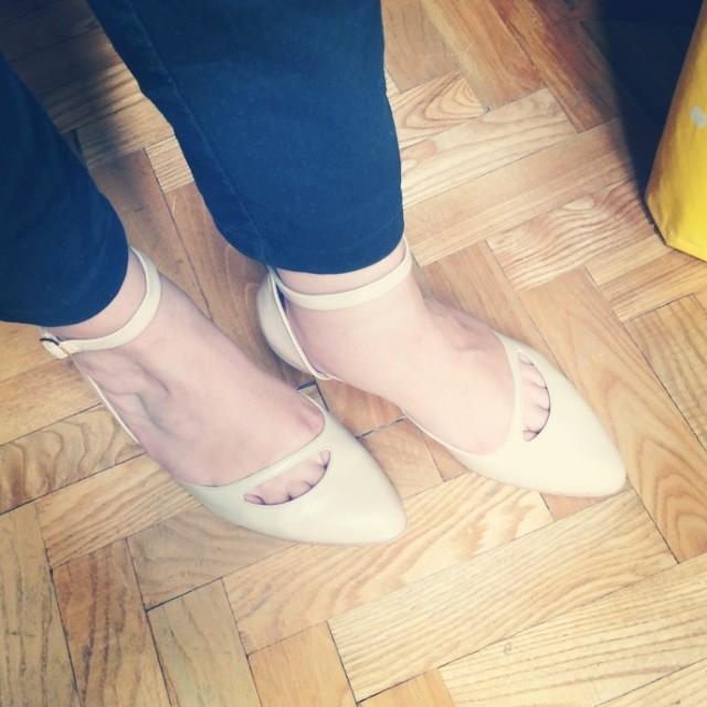 Pantofelki cieliste
