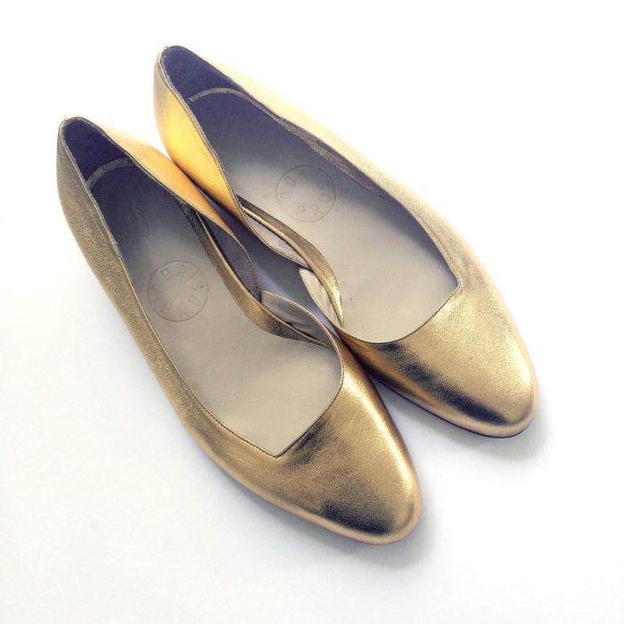 Baletki asymetryczne złote