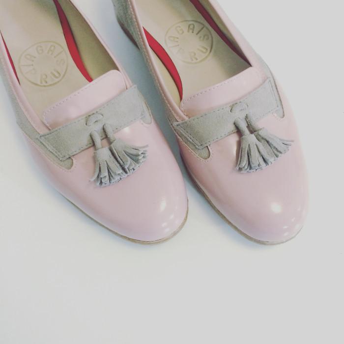 Mokasynka różowo-szara