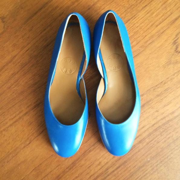 Niebieskie baletki