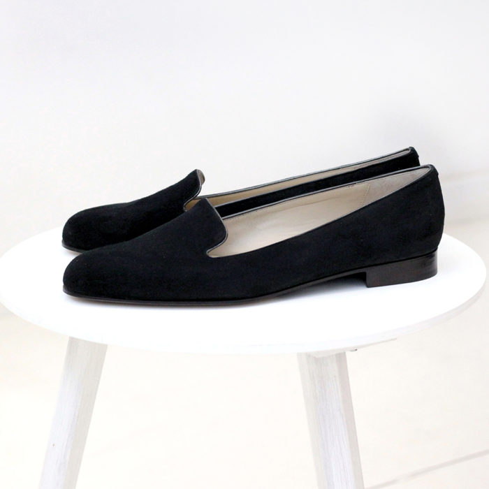 Czarne Loafersy