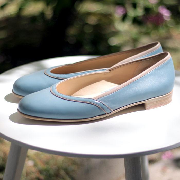 Baletki Prima niebieskie